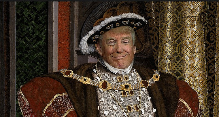 Image result for trump monarchy