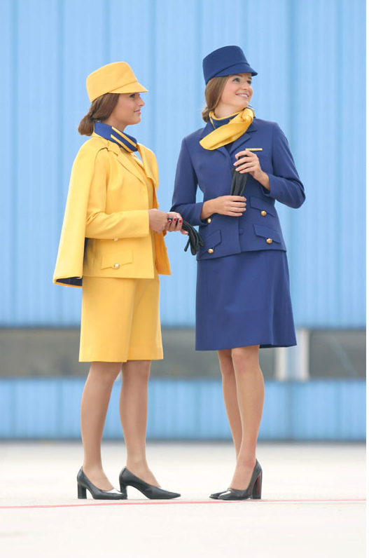 Lufthansa Flight Attendant Uniform History  World -2149