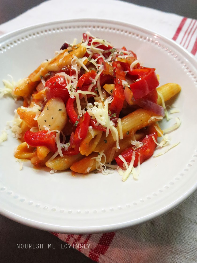 tomato and red pepper penne