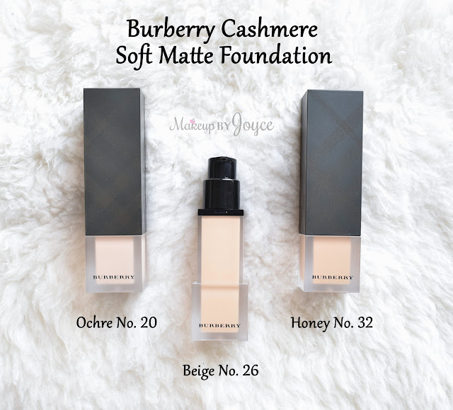 Burberry Cashmere Soft Matte Foundation Review Swatches