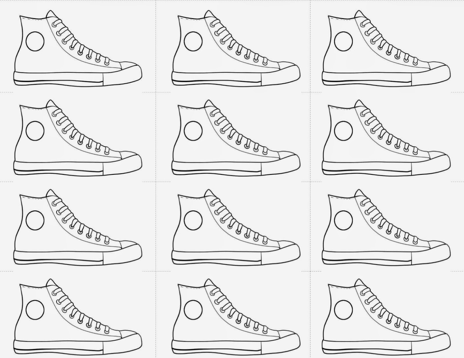running shoe coloring page - simple running shoes coloring pages