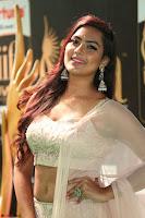 Prajna Actress in backless Cream Choli and transparent saree at IIFA Utsavam Awards 2017 0129.JPG