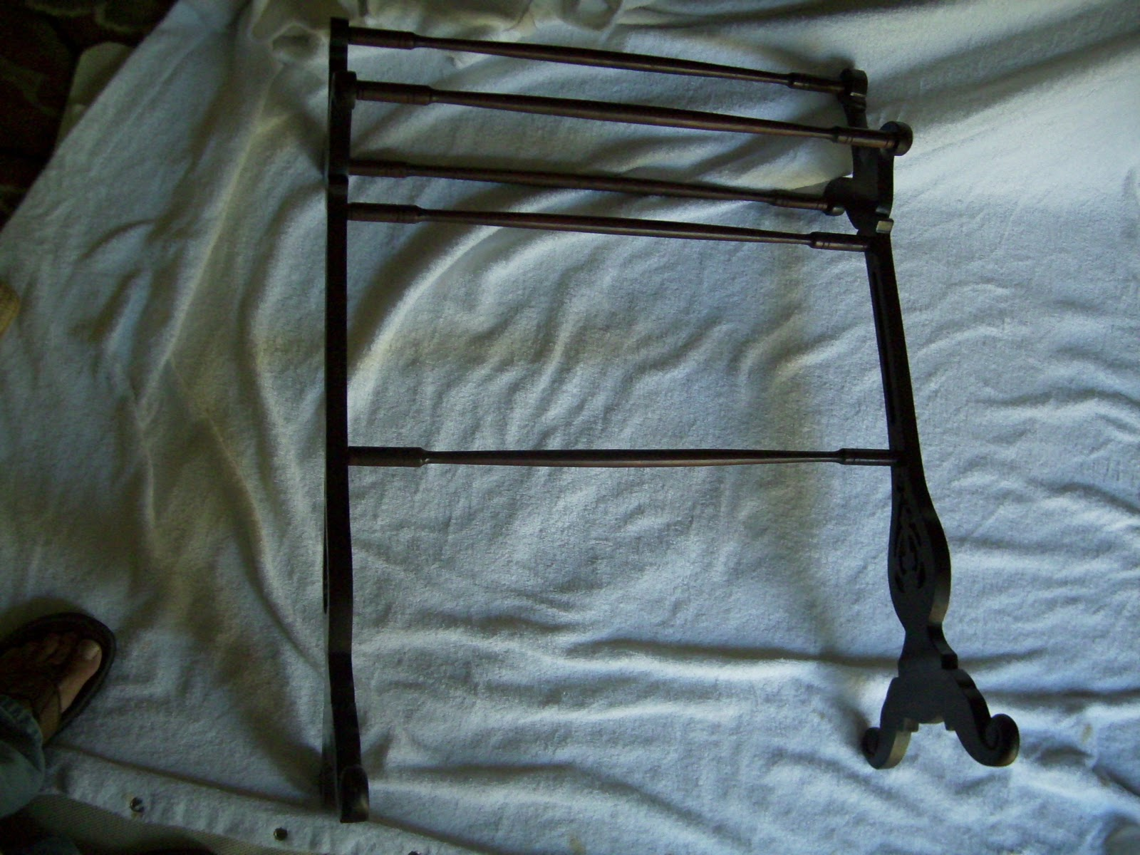 A Simpler Life: Antique Quilt Rack Blanket Stand $50.00