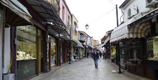 barrio musulmán o Čaršija (Karsija) de Skopje.