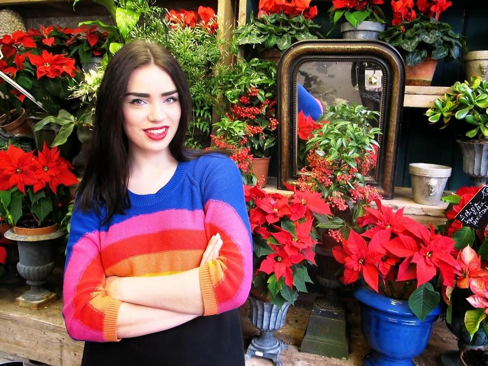 SONIA BY SONIA RYKIEL COTTON RAINBOW KNITTED JUMPER DRESS