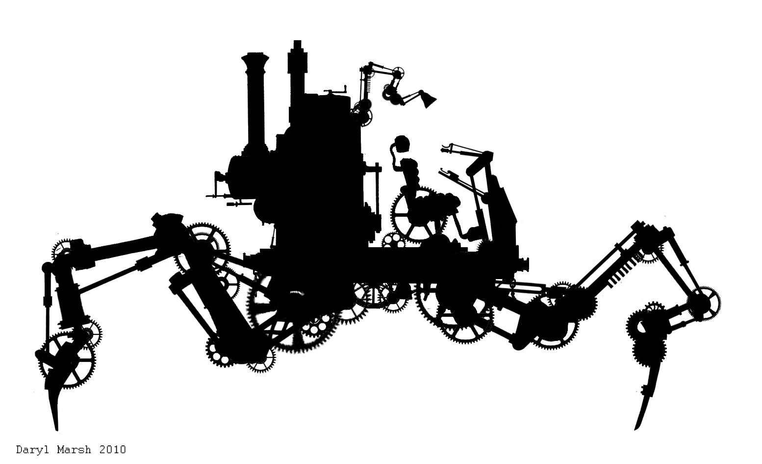 Daryl Marsh The Engines Of 13 Concept Art