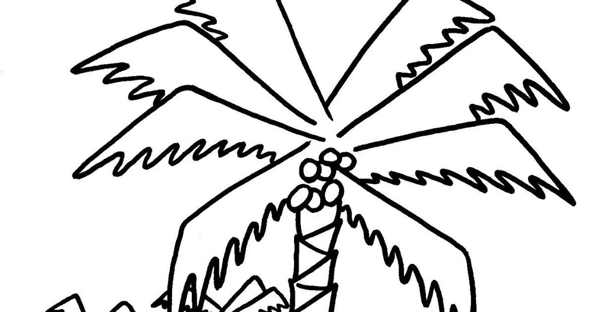 Dessins et coloriages page de coloriage grand format imprimer des palmiers - Dessin de palmier ...