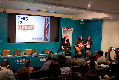 The Magic Numbers with Visit Britain at the 2012 London Media Centre