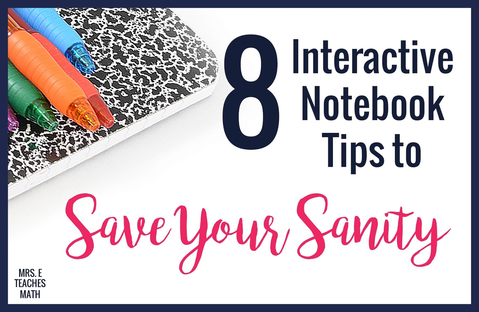 Teachers, these interactive notebook tips will save your sanity and keep you happy!  These tips will help you train your students to take good notes, while keeping your life manageable.