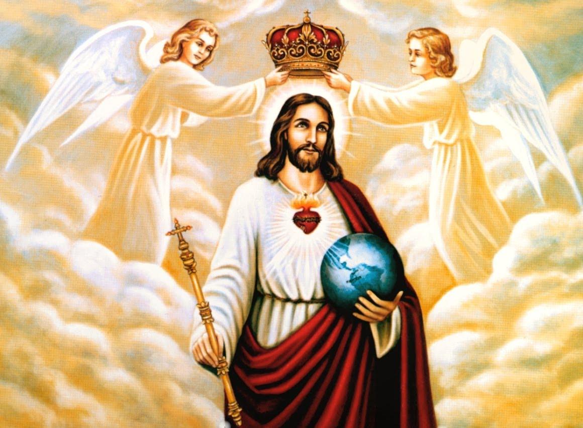 Znalezione obrazy dla zapytania obraz chrystusa króla wszechświata