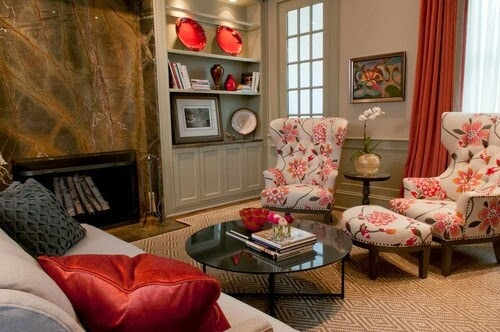 Interior colors combinations #1 - Beige/Red - The Grey Home