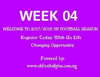 Week 04 uk football pools season by www.ukfootballplus.com.ng
