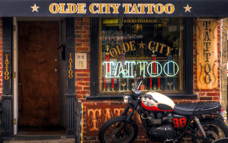 tattoo shop rocketgarage cafe racer magazine. Black Bedroom Furniture Sets. Home Design Ideas