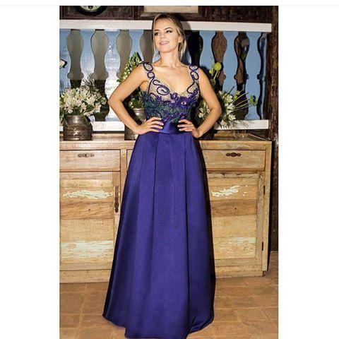 vestido de festa azul 2017