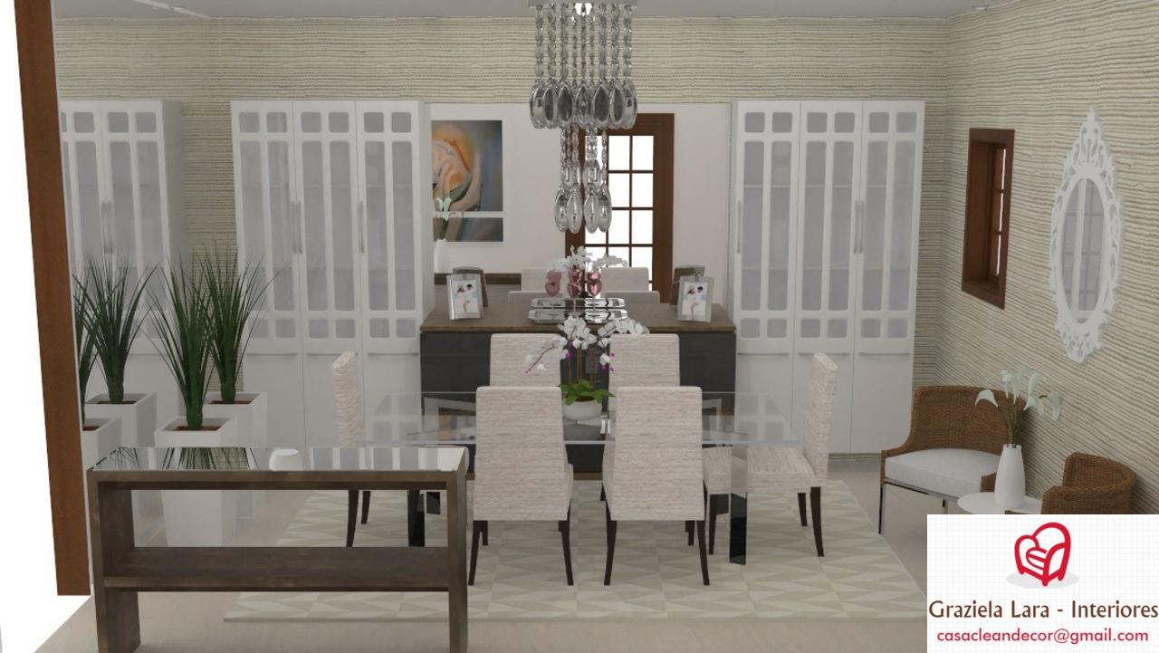 Construindo Minha Casa Clean Decora O Da Sala De Jantar E Banheiro  -> Parede Da Sala Ideias