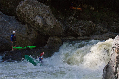 Jared Page wheeling through a sticky hydrolic, Chris Baer, Colombia, Canyon, Estretcho, Magdalena