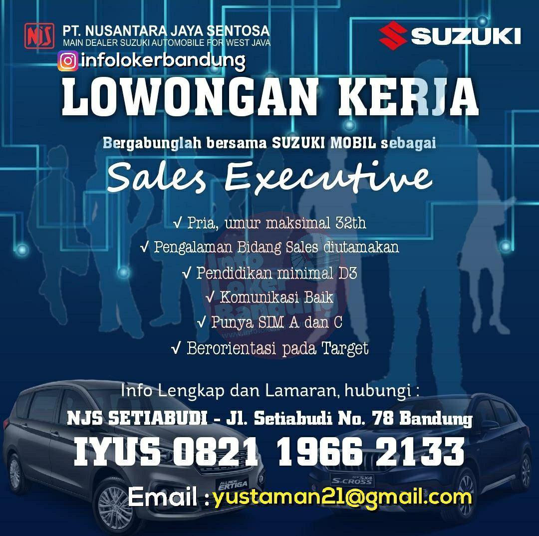 Lowongan Kerja PT. Nusantara Jaya Sentosa ( Suzuki Mobil ) Bandung Maret 2019