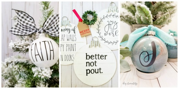 Ornaments made with Silhouette Cameo 3