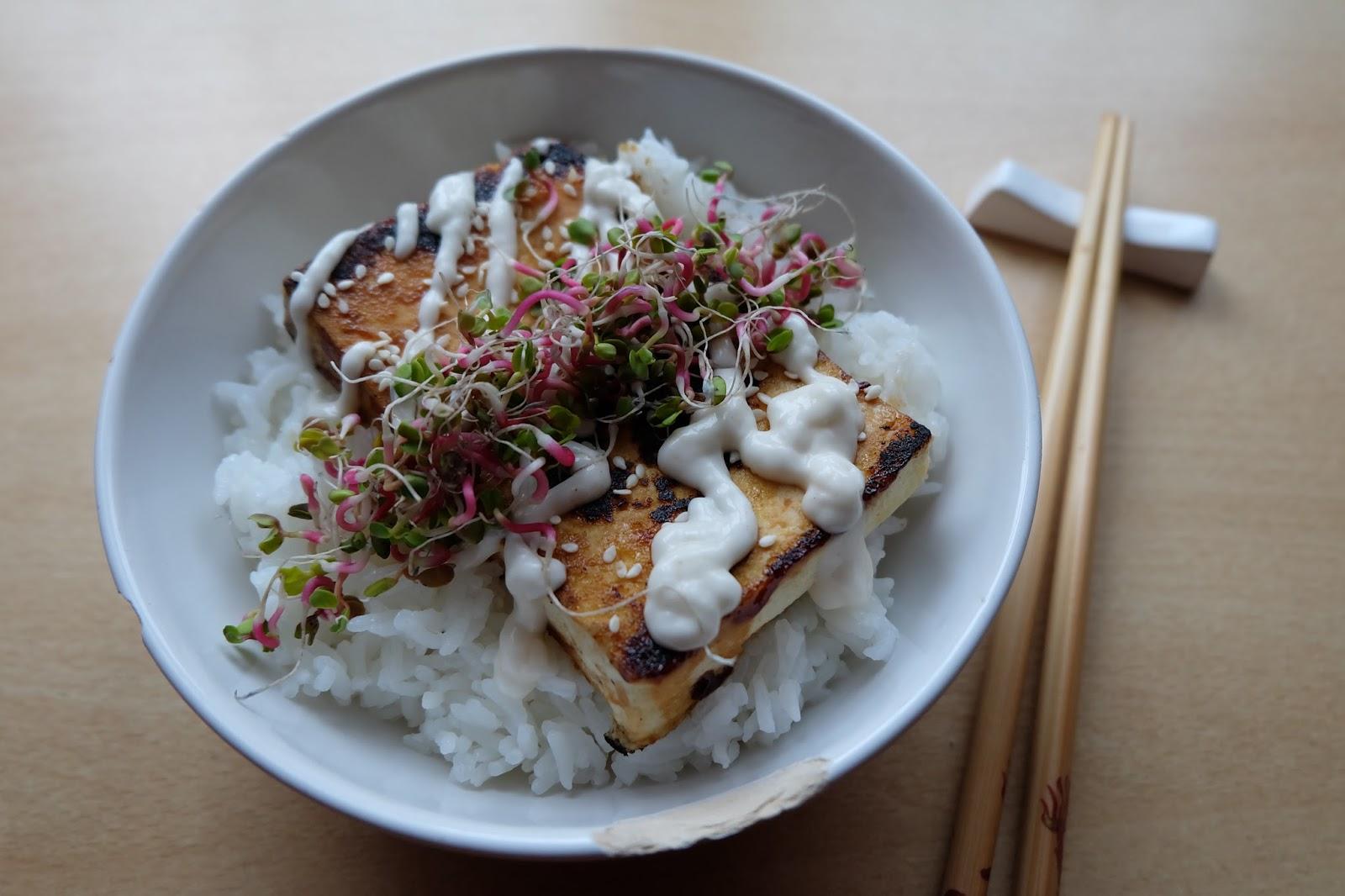 Miso tofu steak - Mlsný králík z rýžového těsta