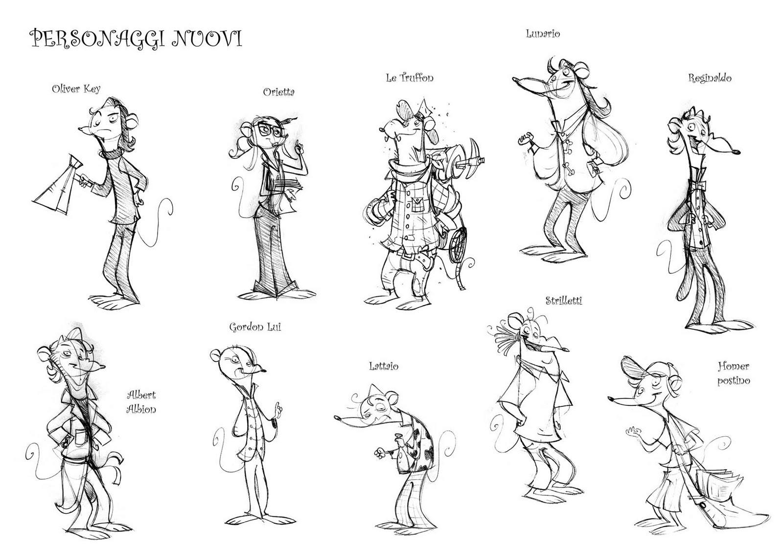 Ivan: Studi per i personaggi secondari del 2° vol. di