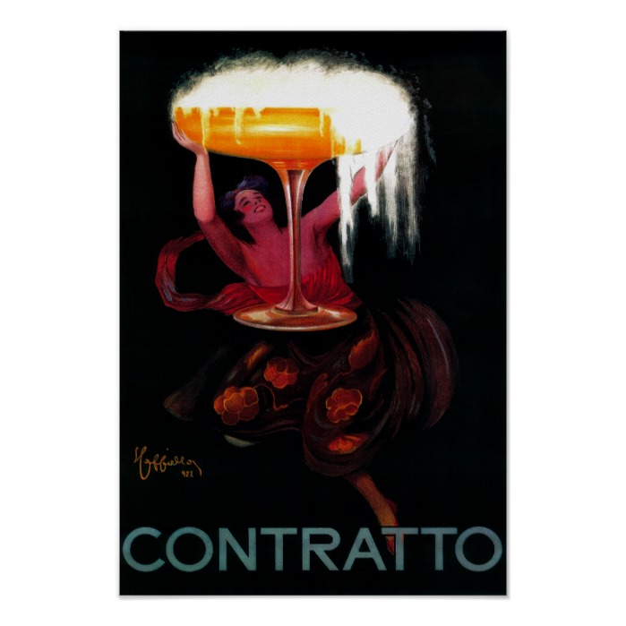 Contratto - Sparkling Wine Vintage Poster