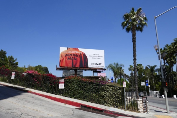 Wrong Man Starz series billboard