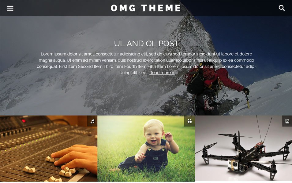 OMG Responsive WordPress Theme