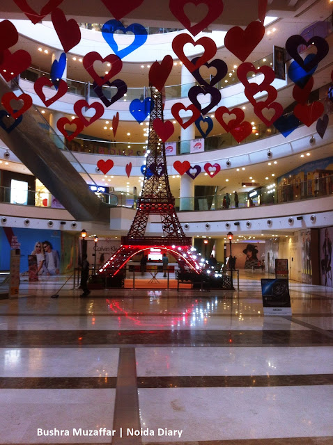 Noida Diary: Valentines Decorations at Noida Malls | DLF Mall of India