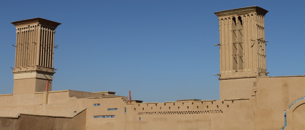 The famous wind towers of Yazd, Iran