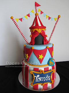 bolo aniversário circo bragança