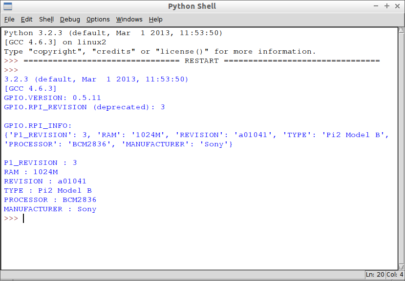 Hello Raspberry Pi: Get Raspberry Pi Board Information in