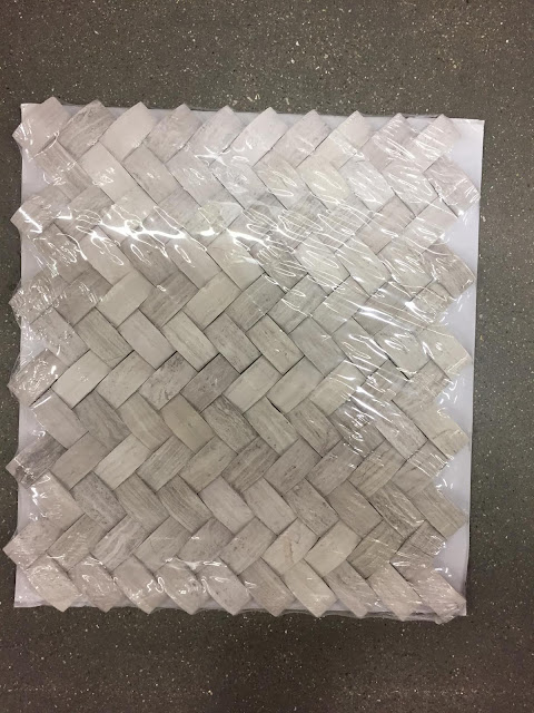 natural basketweave tile