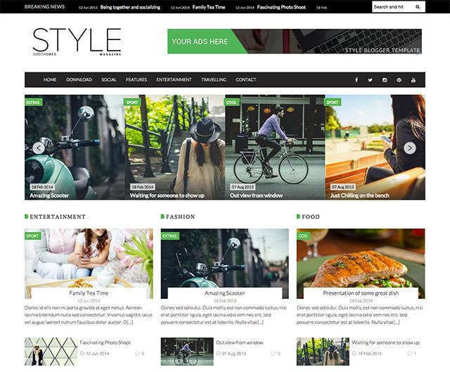 Style Magazine Template Responive Bera Majalah Gratis