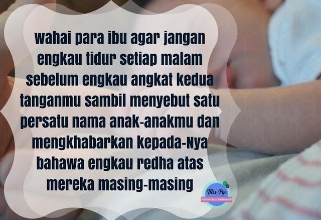 Doa Redha Ibu Kepada Anak Sebelum Tidur