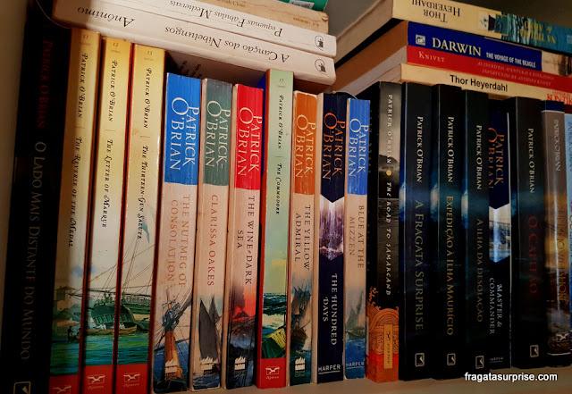 Livros de Patrick O'Brian da série sobre a Fragata Surprise