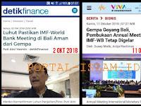 JANGAN SOMBONG! Luhut Pernah Pastikan IMF-World Bank Meeting di Bali Aman dari Gempa