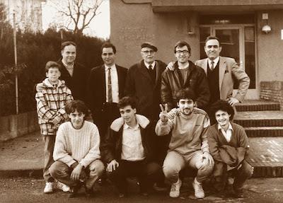 Equipo del C.C. Sant Andreu el 20 de diciembre de 1987