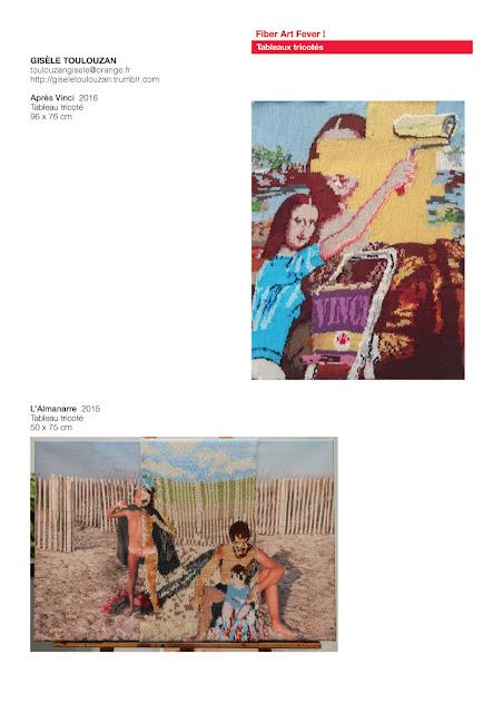 tableaux tricotés, art avec laine