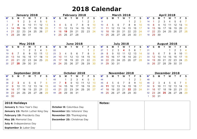 Download 2018 Federal Holidays Calendar, Federal Holiday Calendar 2018, 2018 Federal Holidays Calendar USA, 2018 Federal Holidays Calendar UK