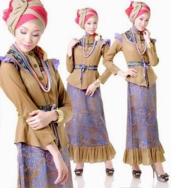 Baju muslim remaja wanita yang modis
