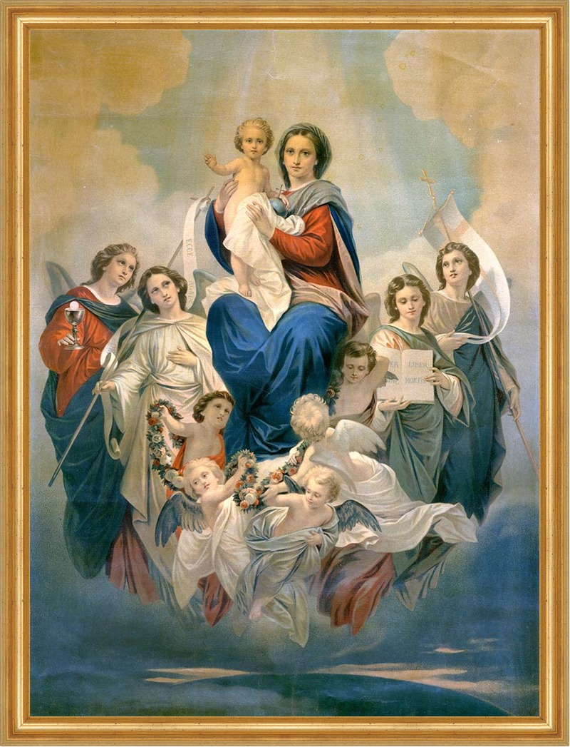 Scuola ecclesia mater la vergine degli angeli di for Quadri con angeli