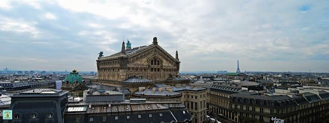 Vistas desde el mirador de las Galerías Lafayette, París