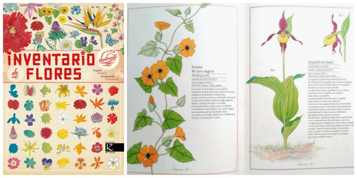 libros infantiles informativos, conocimientos naturaleza, inventario ilustrado flores kalandraka