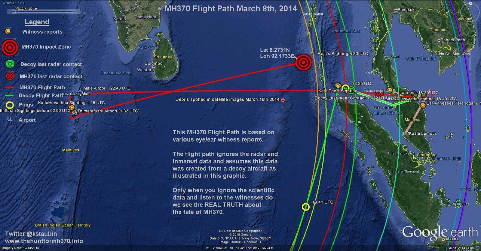 figure 3 mh370 flight path to the maldives