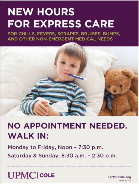 New Hours For Cole Memorial Express Care
