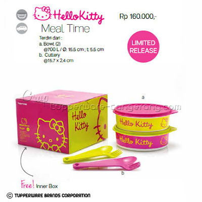Hello Kitty Meal Time Promo Tupperware April 2016