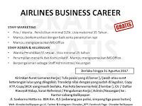 Lowongan  Kerja  Airlines Business  Career