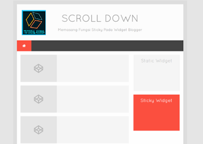 Cara Membuat Sticky Widget di Sidebar Blogger