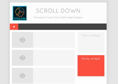 Cara Membuat Sticky Widget di Sidebar Blogger
