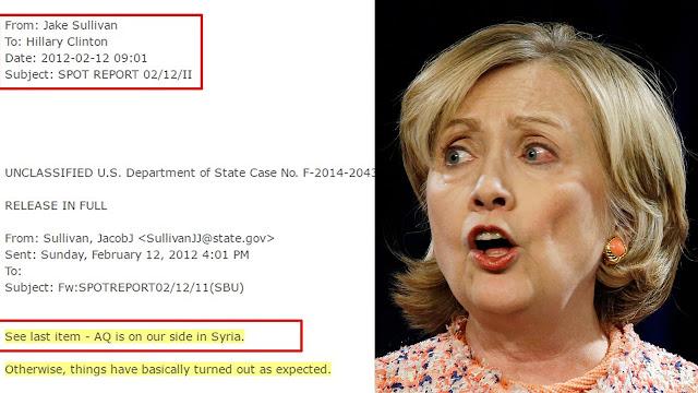 Wikileaks publica email a Hillary Clinton: «Al Qaeda está de nuestro lado»